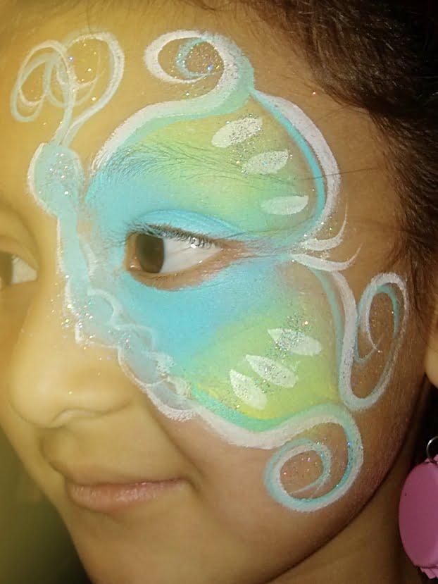 facepaint candid blue butterfly