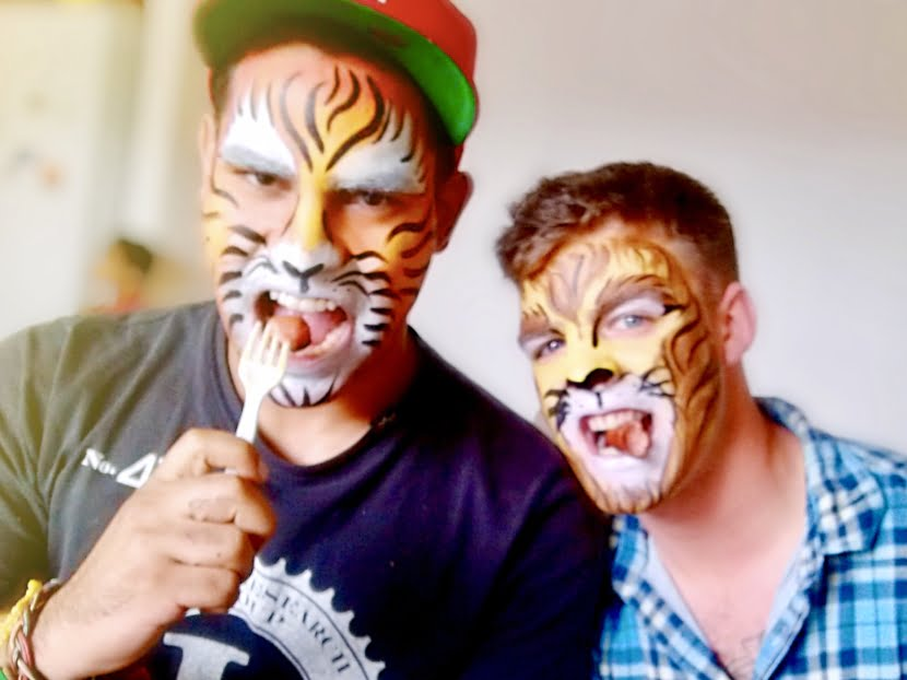 facepaint candid lion