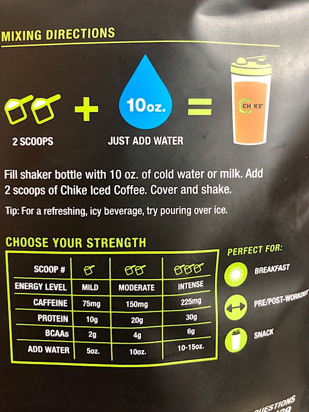 protein coffee directions
