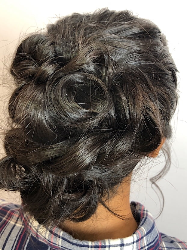 gabby updo romantic